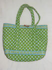 Vera Bradley Retired SMALL TOTE in GREEN APPLE pattern carryall bag