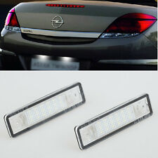 2x Error Free LED License Plate Light For OPEL Vauxhall Astra F G Corsa B Omega