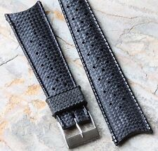 Tropic strap type 1960s/70s perforated 22mm curved ends vintage dive watch band