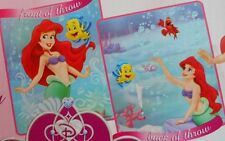 2000 Disney Princess Ariel  The Little Mermaid Reversible Fleece Activity Throw