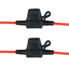 2 x In-line Mini Blade Fuse Holder Splash Proof for 12V 20A Fuses Car