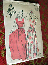 Vtg 30s Formal Cocktail Length Dress Advance 4313 Bust 30 sz 12 Sewing Pattern