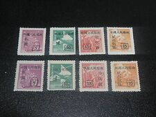 CHINA PRC 1951 Sc#101-04,101a-04a Rouletted Unit Issue 2 Set MNH-XF