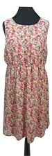 NEW LOOK Maternity Dress Size 16 Pink Floral Stretch Comfort Boho