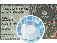 HOTFIX, 1440 Preciosa Genuine Czech Crystals 16ss Aquamarine Viva Iron-on, ss16