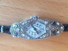 Art Deco Diamond Sapphire Ladies Cocktail Watch 1920
