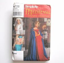 Medieval Cape 3 Hats Costume Collection Simplicity 8728 One Size Halloween UNCUT