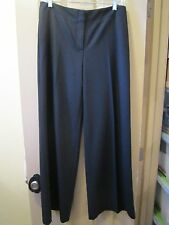 NEW SZ 0.5 (4-6) CHICO'S ULTIMATE FIT BLACK CAVALRY TWILL PALAZZO PANT, NWT, $99