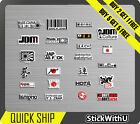 24x Decal Sticker Japanese Kanji Flag Sun JDM Race Car Drift Turbo Pack 4.1