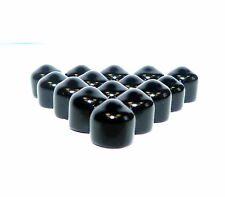 50 x 7.15mm ID X 6mm Long BLACK PVC Caps, Finishing, Masking, End Caps