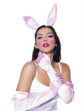 ADULT WHITE & PINK BUNNY RABBIT EARS GLOVES & TAIL COSTUME KIT UA2059PK