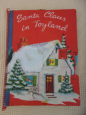 SANTA CLAUS IN TOYLAND ~ Vintage 1950's Children's Christmas Pop-Up Book