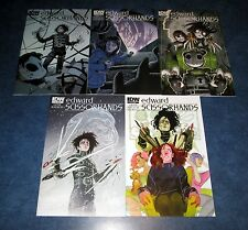 EDWARD SCISSORHANDS #1 2 3 4 5 1st print A set IDW NEW COMIC 2015 NM tim burtons