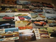 1971, 72, 73 Chevrolet Dealer Sales Brochure Lot (20) Impala, Monte Carlo, Nova