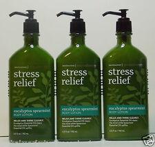 3 Bath & Body Works Aromatherapy Stress Relief Eucalyptus Spearmint Body Lotion