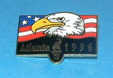 ATLANTA 1996 Olympic Collectible Logo Pin - Bald Eagle Against Stars & Stripes
