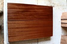 Gorgeous 2 pc Sapele curly guitar bass body blank luthier tonewood #1