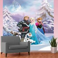 DISNEY FROZEN ANNA ELSA OLAF SVEN BEDROOM MURAL WALLPAPER WALL DECOR 2.32x1.58m