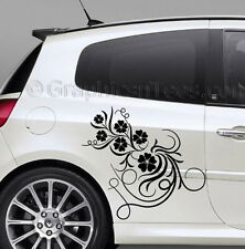 Clio Car Stickers Flower Sticker, Custom Vinyl Graphic Decals, Girly Car Sticker
