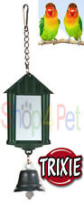 TRIXIE LANTERN MIRROR with BELL - BUDGIE, CANARY or SMALL BIRDS *VARIOUS COLOURS