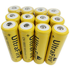 12 x 3.7V 18650 9800mAh Li-ion Rechargeable Battery For Ultrafire LED Flashlight