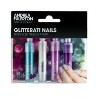 4 Colour Nail Art Glitter Metal Dust Acrylic Glitterati Nails Bling Powder Set