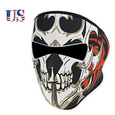 US New Gothic Motorcycle Bike Cycling Skull Half Face Mask Ski Headwear Neoprene
