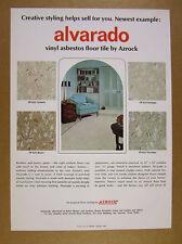 1968 Azrock Alvarado Asbestos Floor Tile flooring vintage print Ad