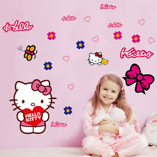 HELLO KITTY CUTE GIRLS - Printed Vinyl Wall Sticker Decor Transfer