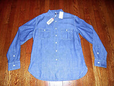 NEW $148 GRAYERS 1920s STYLE JAPANESE RED LINE SELVEDGE CHAMBRAY WORK SHIRT Med