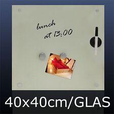 Vetro GRANDE MEMO Board 40 cm x 40 cm bollettino tabellone, CUCINA MEMO Board