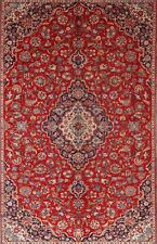 "Great Deal Traditional Red 6x10 Kashan Persian Oriental Area Rug 9' 7"" x 5' 11"""