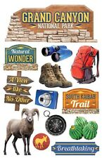 PAPER HOUSE GRAND CANYON TRAVEL VACATION DIMENSIONAL 3D SCRAPBOOK STICKERS