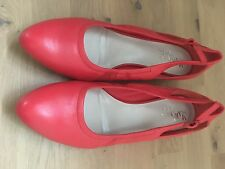 cole haan maria sharapova red sling back flats size 10.5