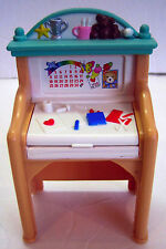 Fisher Price Loving Family Dollhouse KID DESK Child Art Room Accessory 1999