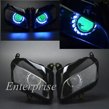 Blue Angel Green Demon Eye HID Projector Headlight for Honda CBR600RR F5 07-12