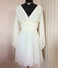 Asos Short Chiffon Wedding Dress size 12 Ivory Beach Grecian Perfect Condition