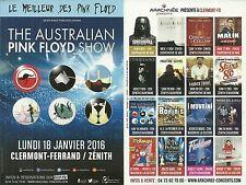 FLYER PLV - THE AUSTRALIAN PINK FLOYD SHOW EN CONCERT LIVE 2016 FRANCE