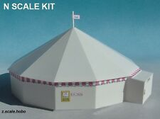 Luetke 63225 N Scale ROUND Big Top Circus Tent Scenery Kit *NEW