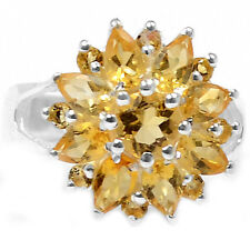 2.8cts Citrine 925 Sterling Silver Ring Jewelry s.8 R5006C-8