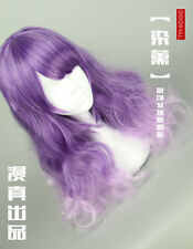 Wig Cosplay Princess Sweet Lolita Gradient Daily Curly Hair Lavender Purple A1