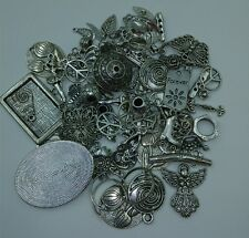 DIY 50g lot Mixed Tibetan Antique Silver Charms Beads Pendants Connector Spacer
