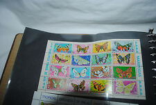 Guinea Ecuatorial postage stamps,sheet of 16, canceled, butterflies