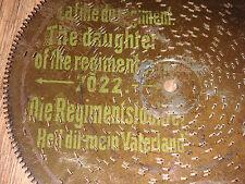 """Heil dir mein Vaterland 19,5cm Blechplatte disc 7 5/8"""" christmas music box clock"""