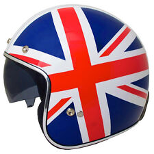 MT LE-MANS LOW PROFILE UNION JACK OPEN FACE HELMET CRUISER BOBBER XL EXTRA LARGE