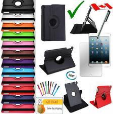 Rotating iPad Mini 4 Case Stand 4th gen 4g 2015 SMART Leather Cover Etui mini 4