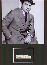 EDWARD G ROBINSON HOLLYWOOD GREAT AUTHENTIC SIGNED AUTOGRAPH DISPLAY UACC