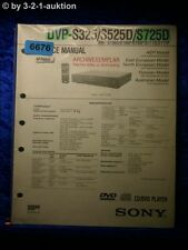 Sony Service Manual DVP S325 S525D S725D CD/DVD Player (#6676)