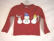 Company Kids Snowman Roll Neck Sweater XSmall #557B 10474