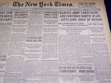 1937 OCTOBER 22 NEW YORK TIMES - FRANCO ARMY TAKES GIJON - NT 3037